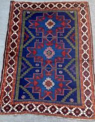 Antique Caucasian Lesghi Star rug (2)