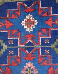 Antique Caucasian Lesghi Star rug (7)