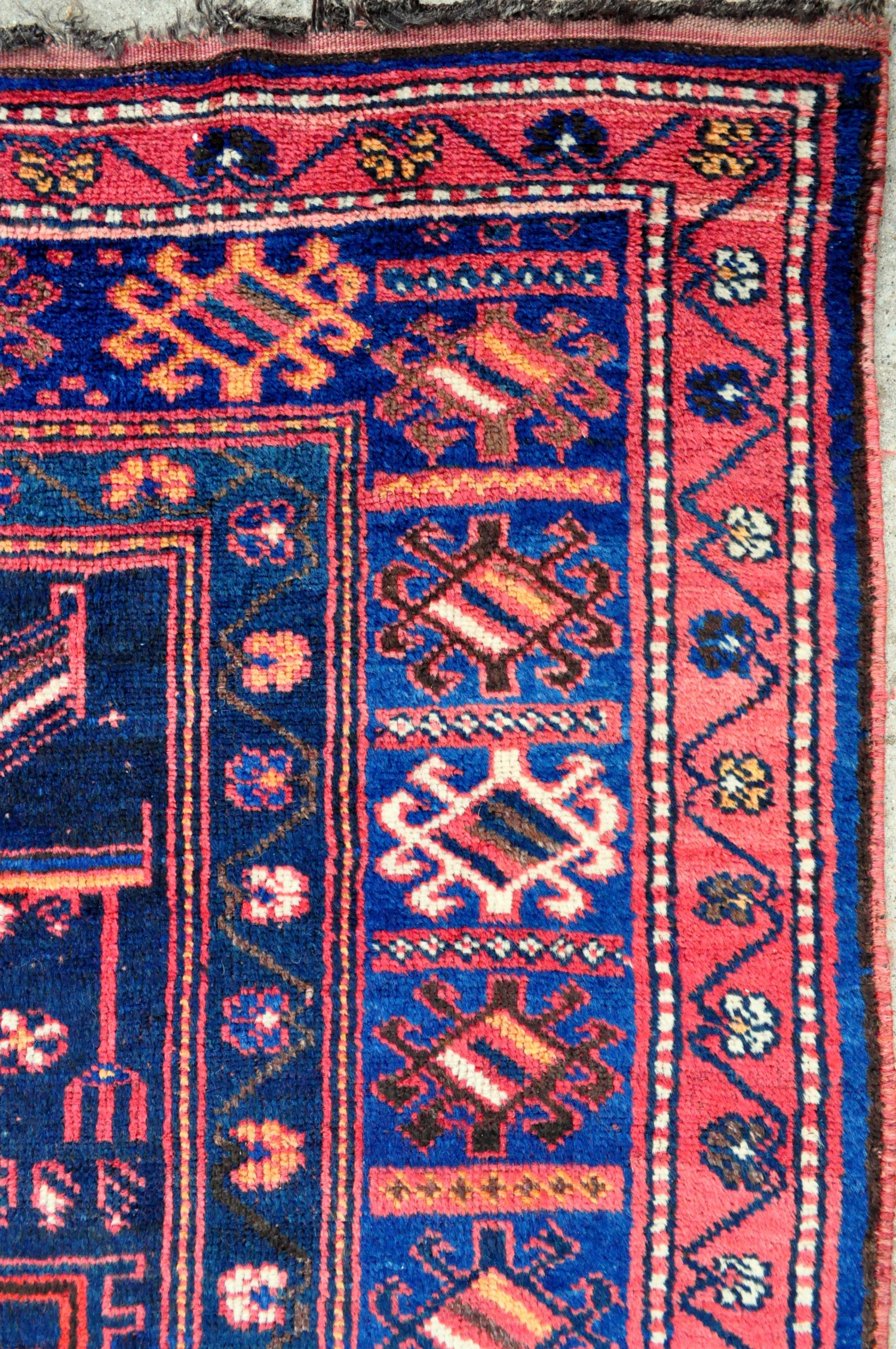 pile tribal x small shag wool ourain natural azilal beni rug