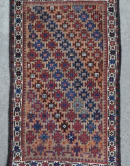 Baluch rug with camel field and brilliant purple  (1)