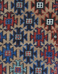 Baluch rug with camel field and brilliant purple  (2)
