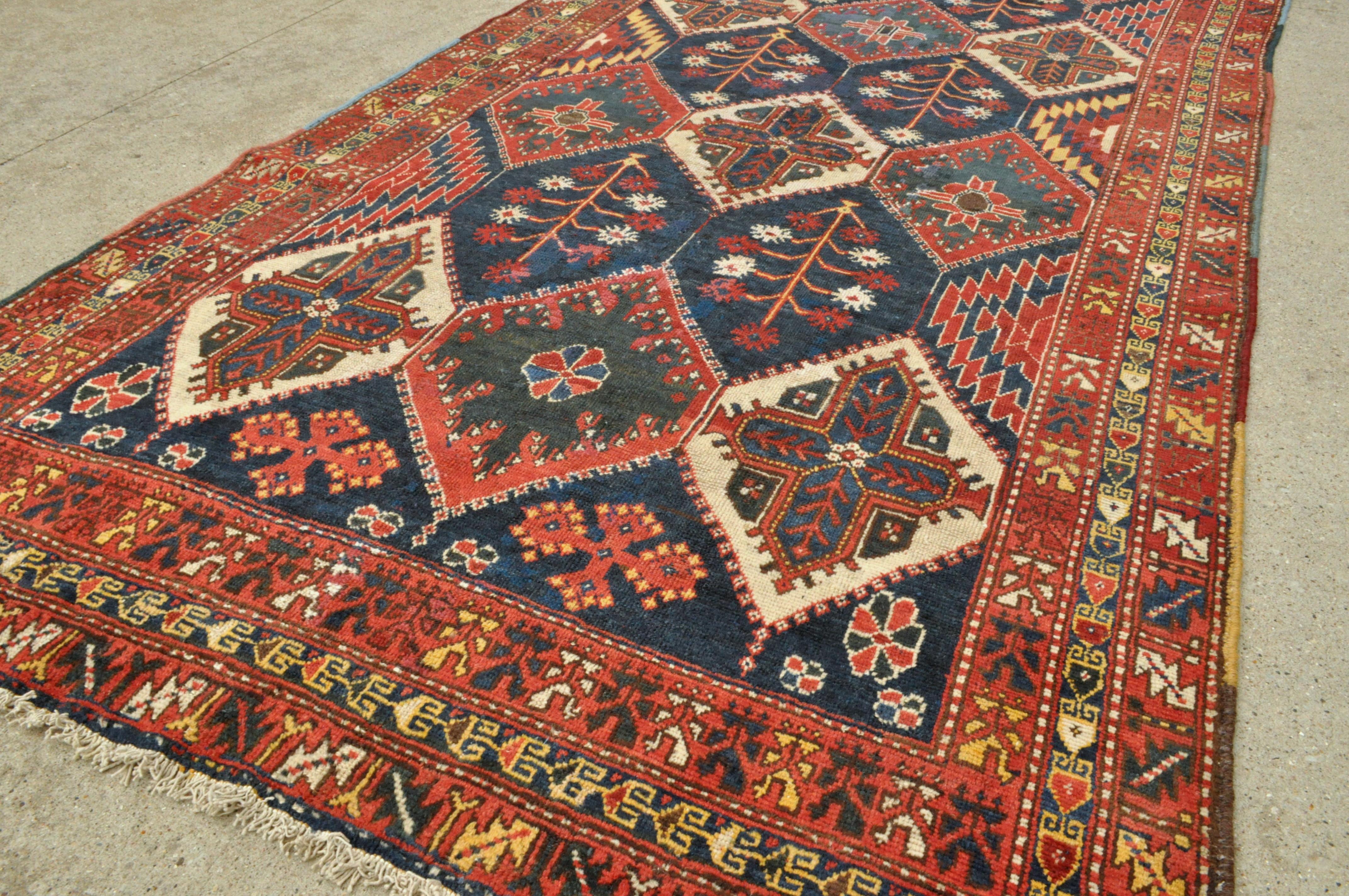 Antique Bakhtiari Tribal Persian Rug 5 0 X 9 5 150 X 286 Cm