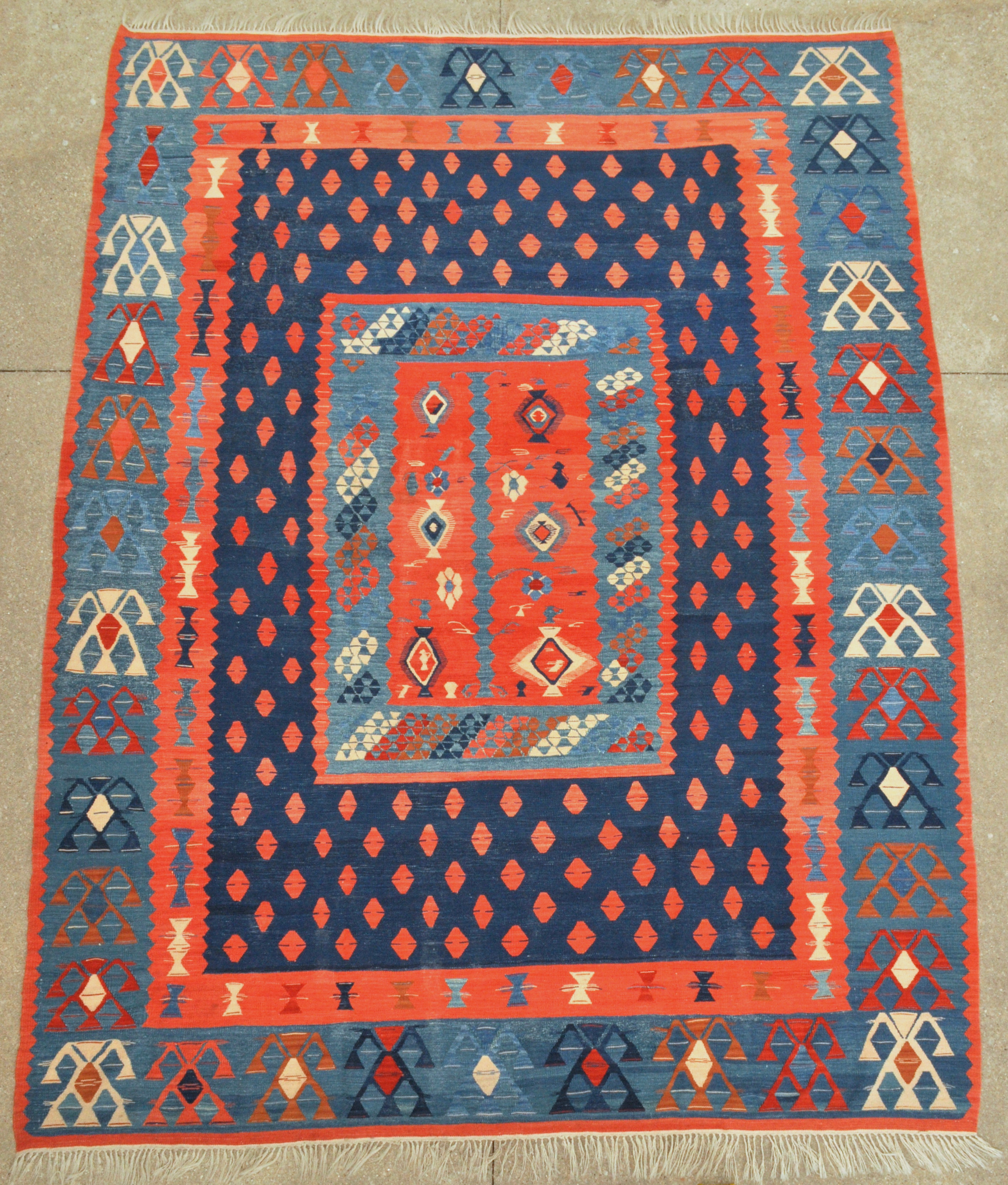 turkish detail tavas multicolor rugs vintage kilim rug