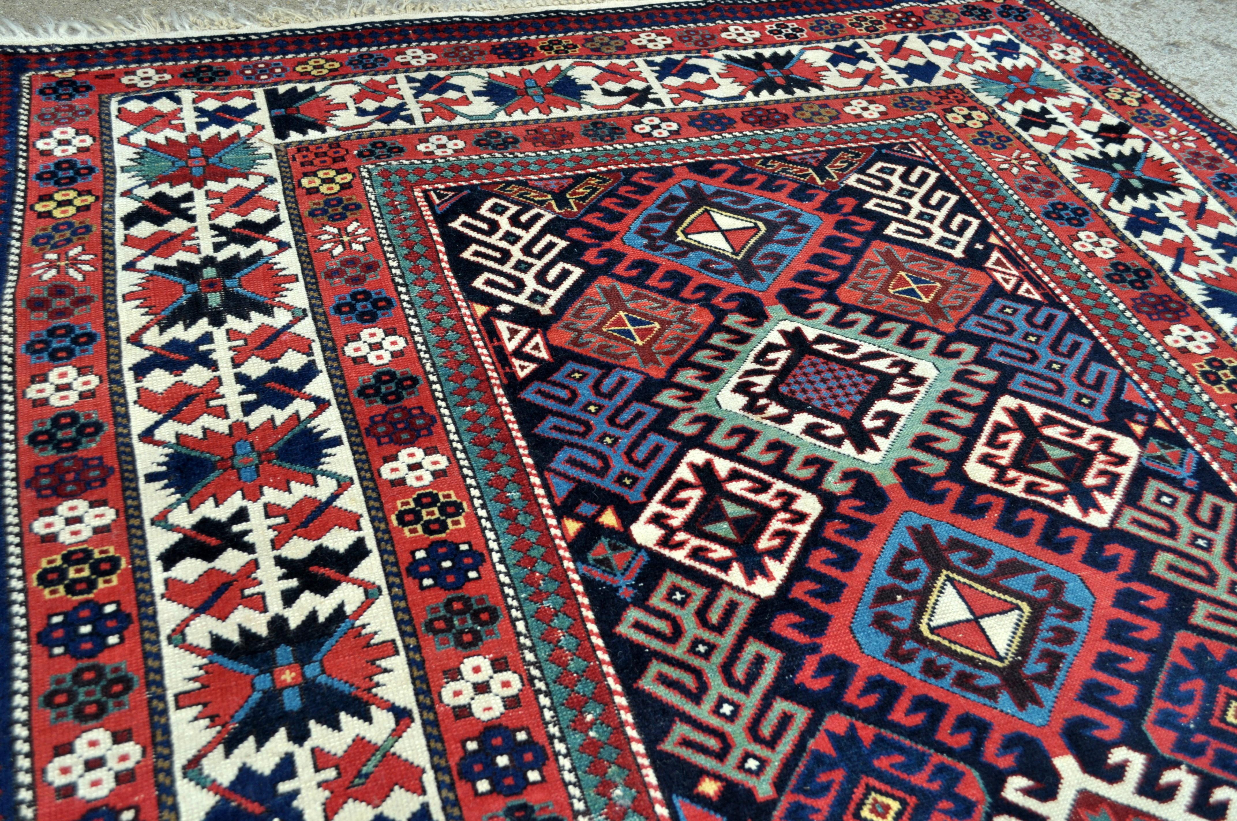 Antique Caucasian Shirvan Rug 19th